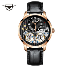 2019 Genuine Luxury AILANG Brand men automatic mechanical self-wind sapphire watches calendar waterproof leather strap Hollow цена