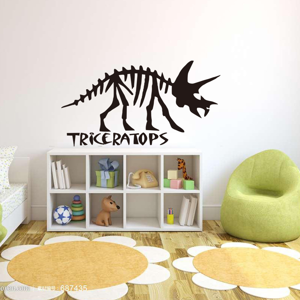 Kids room decoration cartoon dinosaur wall stickers 3D three-dimensional wall stickers living room bedroom decoration