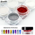 genailish 1.2g/Box Nail Glitter Powder Gold Sliver Shinning Mirror Nail Art Tools Chrome Pigment Glitters for Nail Decoration-GF