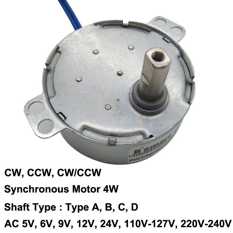 CW//CCW Direction 5//6RPM Fan Synchronous Motor AC220-240V w 40cm Cables