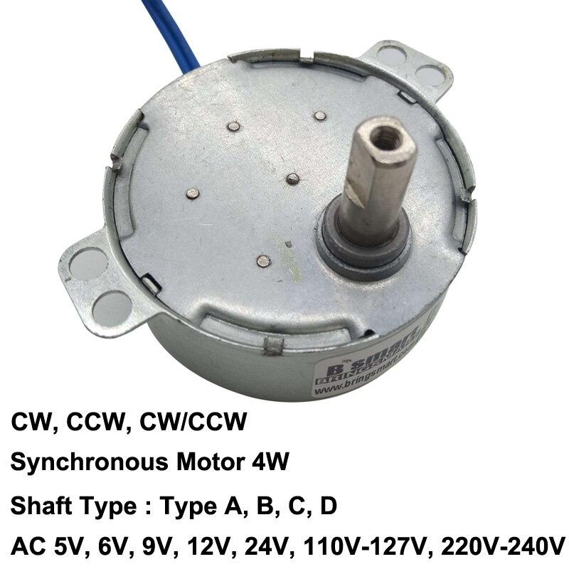 Non directional Torque 1.5KGF.CM Synchronous Motor 15-18rpm AC12V CW CCW