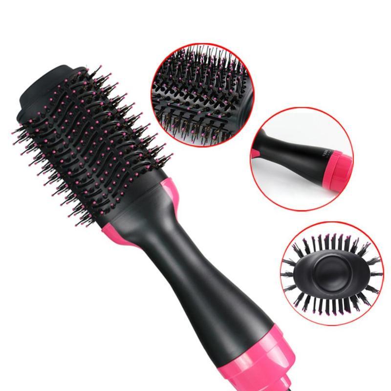 1000W Professional Hair Dryer Brush 2 In 1 Hair Straightener ...