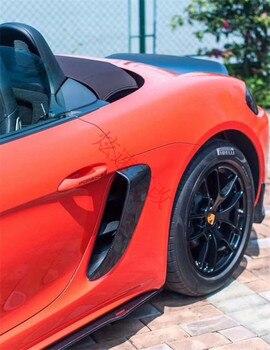 Apto Para Porsche Cayman 718 Entrada E Saída De Tomada De Fibra De Carbono Fibra De Carbono Boxster Traseira Patch
