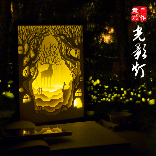 Light And Shadow Paper Carving Creative Diy Hand Birthday Gift To