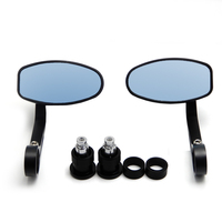 Motorcycle Handle Bar End Rear Side View Mirrors 13mm 18mm Universal Motorbike For Cafe Racer Mirror