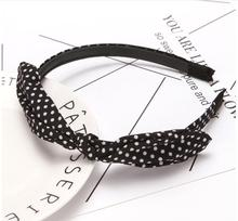 Rabbit Ears Dot Hairbands for Women Girls hoop hair band Headwear Striped Knot Headbands 2019 New Fashion Bow Hair Accesories