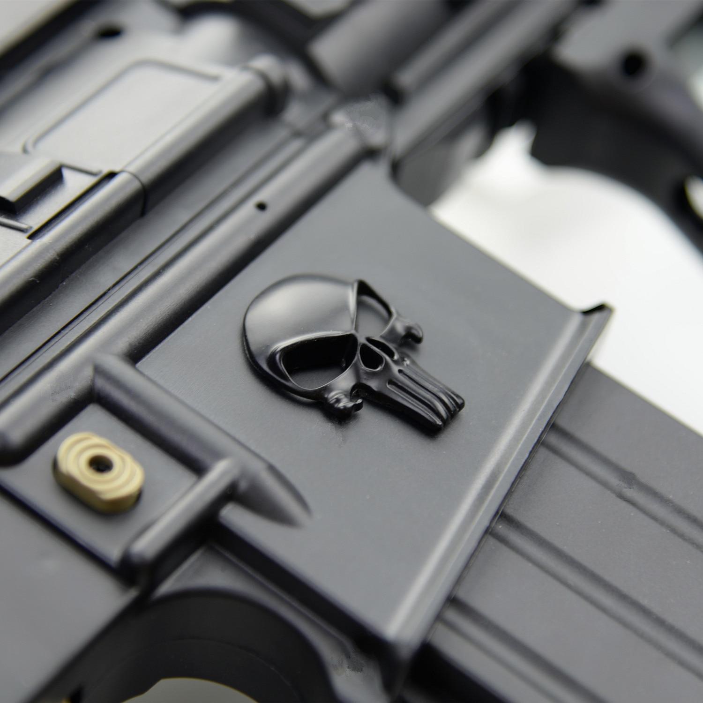 3D naljepnica za kažnjavanje lubanje Deadpool Magwell metalna - Lov - Foto 3