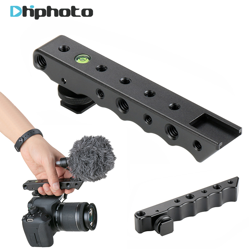 Ulanzi Video Stabilizing Top Handle Cold Shoe Extender Plate with 1/4 3/8 Thread for Canon Nikon Olympus Pentax DSLR Camera