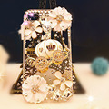 high quality bling fattonny style diamond Rhinestone transparent phone Back Case Cover for iphone 4S/5S/6S/6S plus/7/7 plus