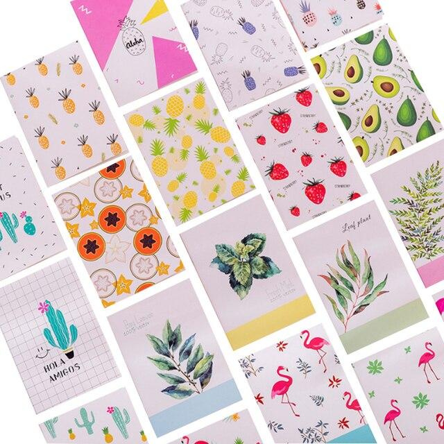 40パック/ロット韓国クリエイティブ小さな新鮮な絵画シリーズメモ帳ポータブルポータブルノートブック6選択