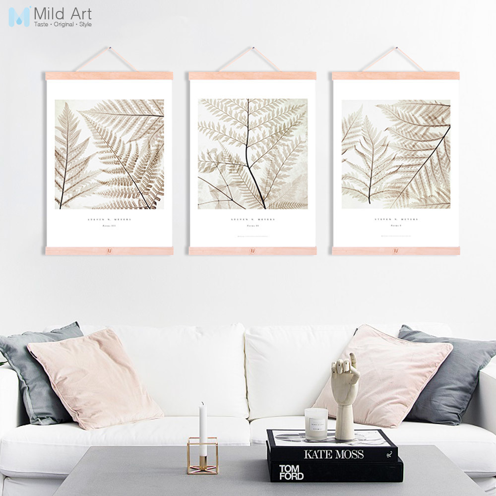 Wooden Framed Canvas Painting Triptych