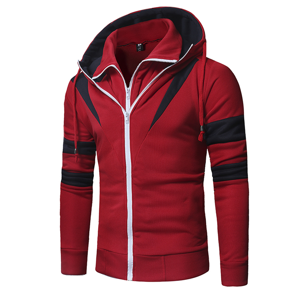 Fashion brand men 39 s casual hoodie solid color long sleeved zipper decorative hoodies simple casual style youth men clothing in Hoodies amp Sweatshirts from Men 39 s Clothing