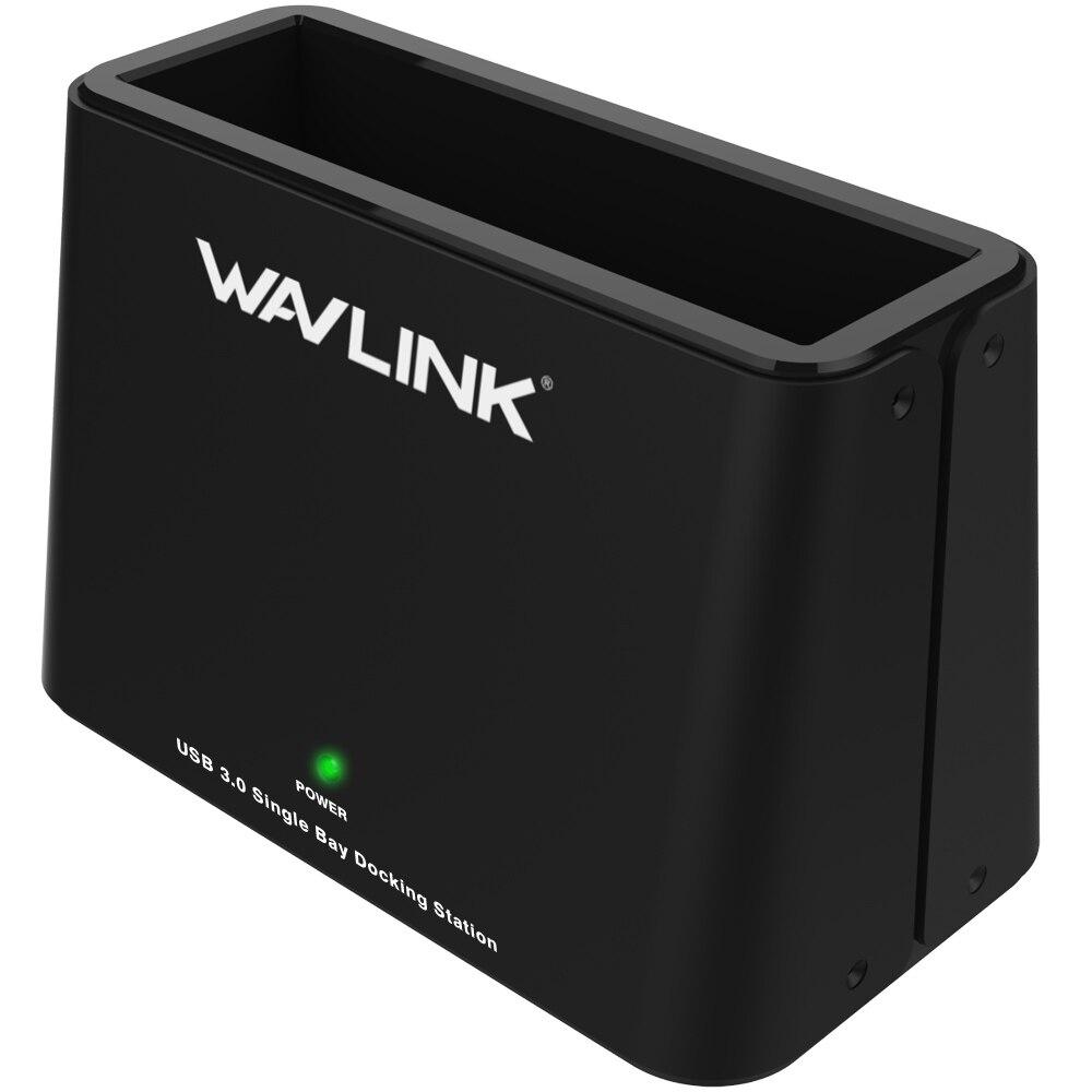 "Wavlink Universal 6TB USB3.0 to External SATA Hard Drive Docking Station for 2.5""/3.5"" inch HDD/SSD/UASP 12V Power Adapter Black"