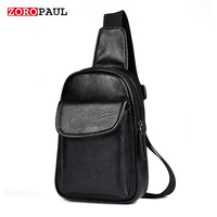 ZOROPAUL Male Brand Bag Men Pack Single Shoulder Strap Back Bag Leather Men S Crossbody Bags
