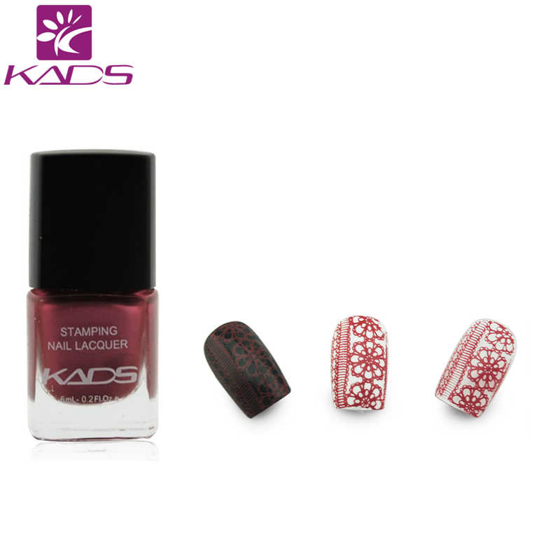 KADS Crimson Magic Nail Art Stamping Lacquer Long-lasting Nail Print Polish  Women Girls DIY Manicure template nail polish