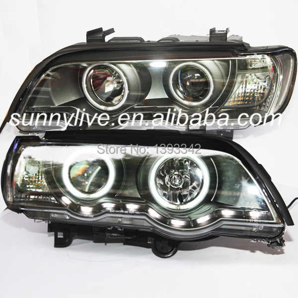 ل BMW E53 X5 CCFL رئيس مصباح عيون الملاك 1999-2003 سنة LF
