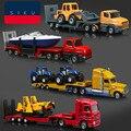 Alta simulación de coches de ingeniería, escala 1: 87 modelos de automóviles de aleación, Grúas, vehículos de transporte, excavadoras, Misiles, helicópteros, Especial