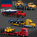 High simulation engineering car,1:87 scale alloy model cars,Cranes, transport vehicles, excavators,Missiles, helicopters,Special