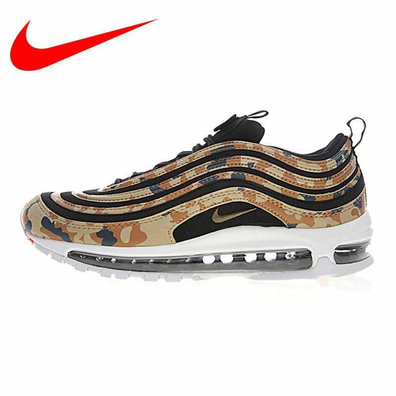 8c1d7b10 Nike Air Max 97 Premium QS мужские винтажные кроссовки, Нескользящие  износостойкие, желтый/армейский