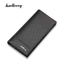 Baellerry Plaid Wallets Men Leather Card Holder Male Purse Long Hight Quality Zipper Large Capacity Luxury Wallet For Men wallet men new brand baellerry leather multifunction wallets large capacity card holder cellphone handbag zipper coins purse bag