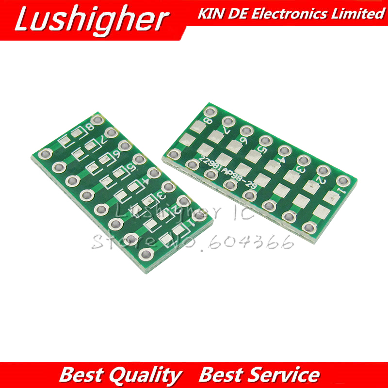 10pcs SMD 0805 0603 0402 To DIP PCB Transfer Board DIP Pin Board Pitch Adapter Keysets