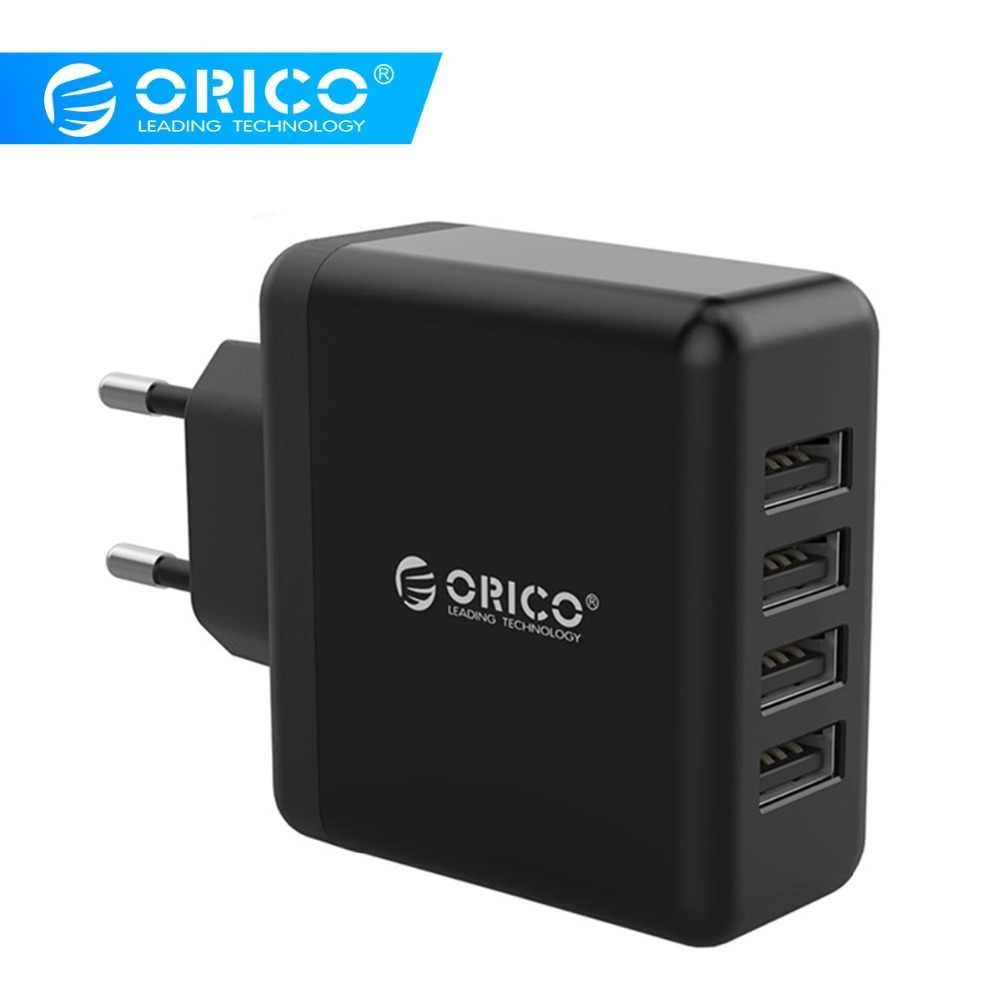 Orico Universal 4 Port USB Charger Portable Uni Eropa Adaptor Dinding 5V2. 4A 20 W Ponsel Perjalanan Smart Charger untuk Iphone Tablet