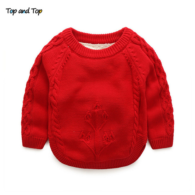 c0fe64cad Top and Top Winter Kids Sweater Baby Knitted Cardigans Casual ...