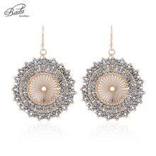 Badu Big Round Crochet Earrings for Women Japanese Seed Beads Ethnic Charm Dangle Drop Earring Fashion Jewelry Gift Wholesale