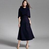 2018 Spring Autumn High Quality Star Style Sleeveless Mid Calf A Line Dress Women S Slim