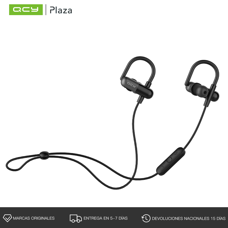 QCY QY11 Wireless Bluetooth Earphones with Mic Sports Headset Ear Hook Bass Music Earbuds for Iphone,Xiaomi,Samsung