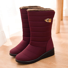 Women boots winter shoes woman mid-calf snow boots plush botas mujer waterproof warm winter women shoes female booties WSH3141