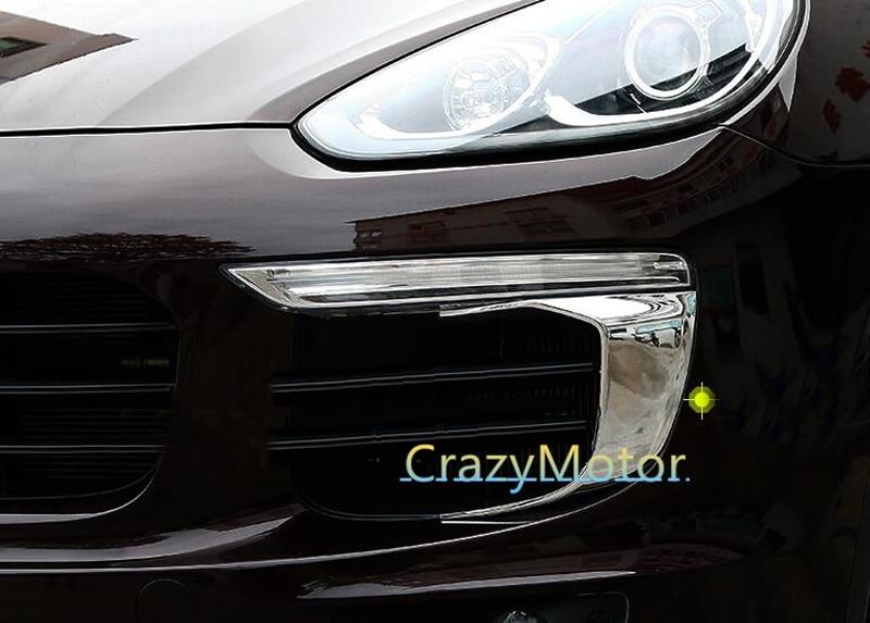 2pcs/set Front Fog light eyelid strip Decoration For Porsche Cayenne 2015 20162pcs/set Front Fog light eyelid strip Decoration For Porsche Cayenne 2015 2016