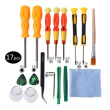 17 in 1 Triwing Screwdriver Game Bit Repair Tool Kit Full Security for Nintendo Switch JoyCon Wii NES SNES DS Lite GBA  Gamecube