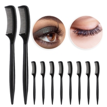 New Hot Sale 10pcs/50pcs Plastic Eyelashes Comb Portable  Ma