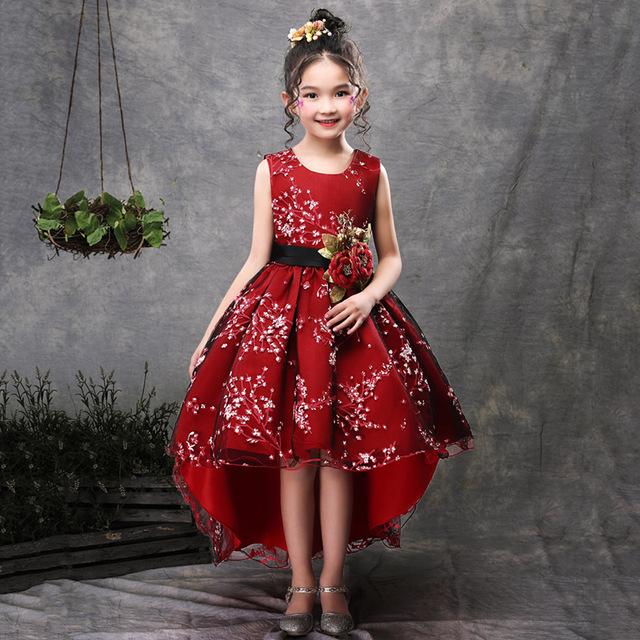 Brand Flower Girls Dress Kids Princess Party Wedding Gowns For