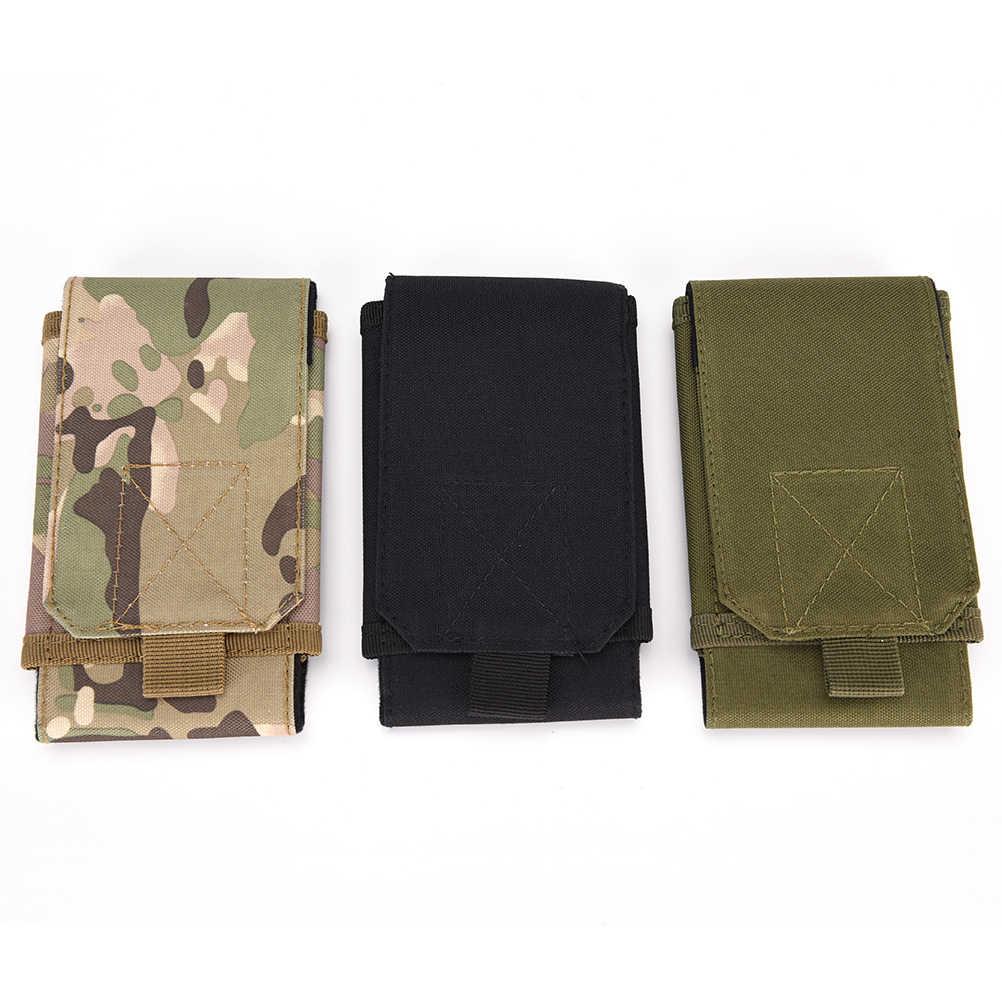 a0648a7f3ce Bolso táctico del ejército Universal cinturón del teléfono celular gancho funda  para iPhone 6 5S/