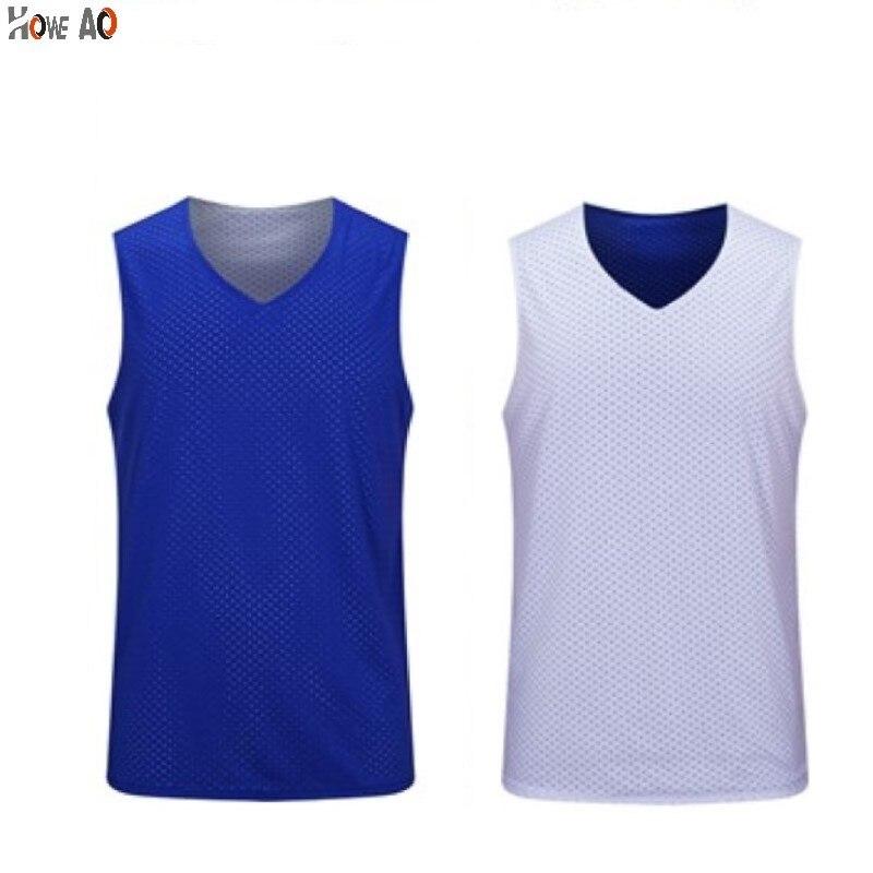 HOWE AO Men's Reversible Basketball Jersey Double Sided Set High Quality Suit Shirt Custom Women Basketball Uniform Wear Summer