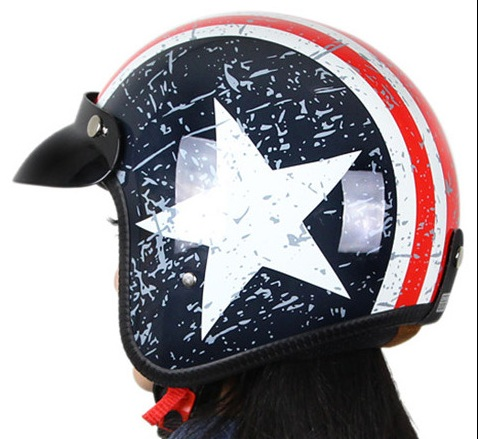 Hot sale Harley Motorcycle Helmets high quality colorful half face open face halley Helmet motorcycle DOT Approved