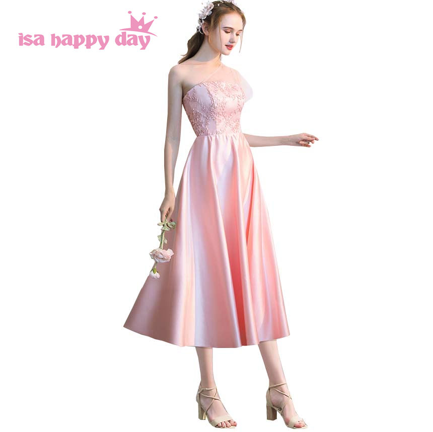 newest short corset elegant princess satin tulle pageant prom dress ball gown formal tea dresses for teens party 2019 H4177