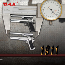 """1/6 Scale 4cm Pistol Weapon Gun Model Toy Silver/Iron Color for 12"""" Action Figure Accessories Without Shoot"""