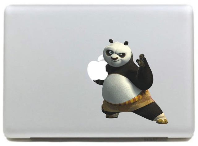 Kung Fu Panda Master Vinyloverdrukplaatjesticker voor DIY Macbook Pro/Air 11 13 15 Inch Laptop Case Cover Sticker