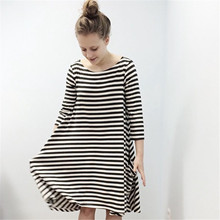 Mom's and Daughter's Fashion Striped Cotton Dresses