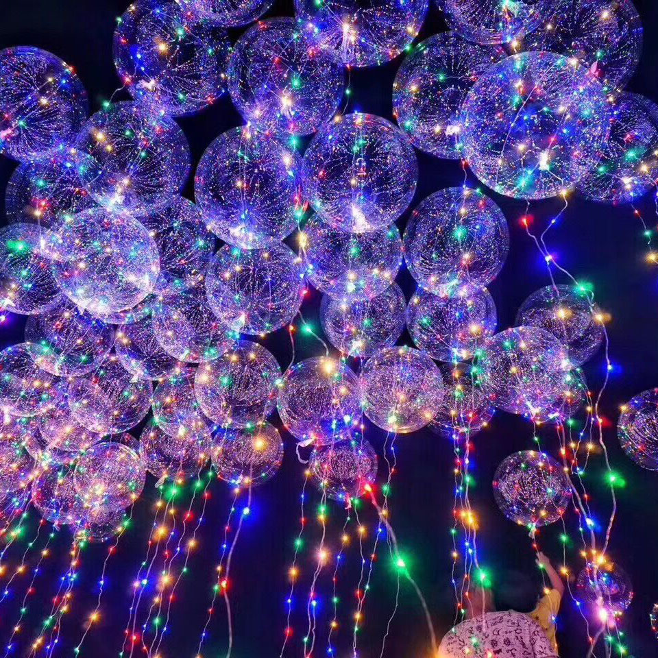 18 inch Clear Bubble Balloon With Led Strip Copper Wire Luminous Led Balloons For wedding Decorations