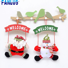 1pcs Non-woven Fabric Christmas Snowman Hanging Ornament Decorations For Home Santa Claus Xmas Tree Decoration Gift