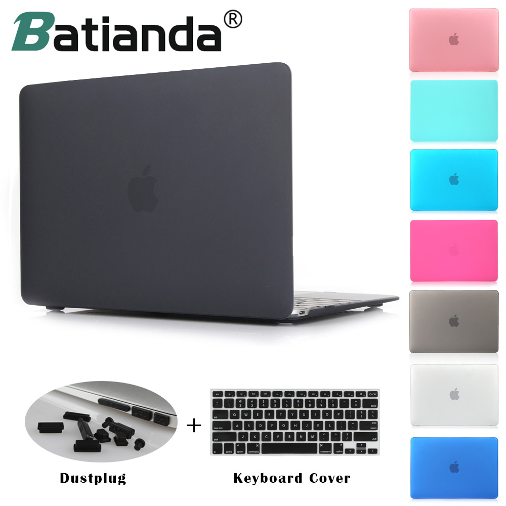 Crystal Clear Matte Rubberized Hard Case Cover for Macbook Pro 13.3 15.4 New Pro Retina 12 13 15 inch Air 11 13 Laptop Shell