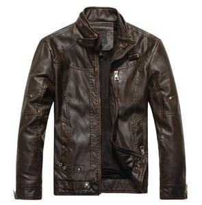 Image 4 - חדש מגיע מותג אופנוע עור מעיל גברים גברים של עור מעילי jaqueta דה couro masculina mens עור מעילים