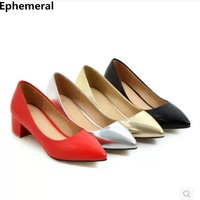 Elegant office high heels slip on shoes for women pointed toe stilettos de mujer gold silver larger size 46 47 45 european style