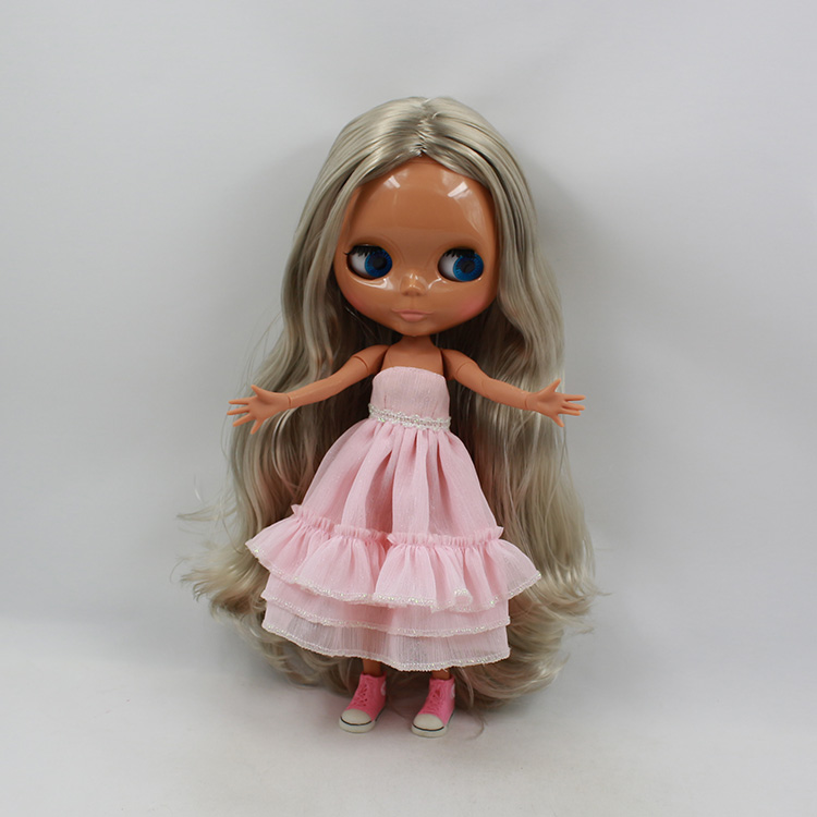 Free shipping Blyth doll joint body 30cm fashion nude doll diy boneca negra bonecos colecionaveis toys for children girls free shipping nude blyth doll brown wavy wig doll toys for girls