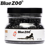 BlueZOO Hot Film Hard Wax Beans Pellet No Depilatory Wax Strips Black Color Hair Removal Cream