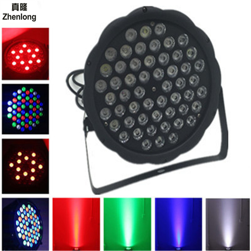 LED 54x3W RGBW LED Flat Par RGBW Color Mixing DJ Wash Light Stage Uplighting KTV Disco DJ DMX512 Wedding Par Light Auto Show free shipping 54x3w flat led par light rgbw best quality par can dmx512 disco dj home party ktv led stage effect projector